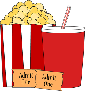 Movie popcorn, and drink