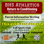 BHS Athletics Return to Conditioning