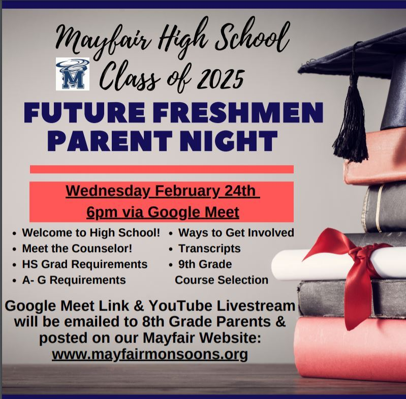 Future Freshmen Parent Night 2021