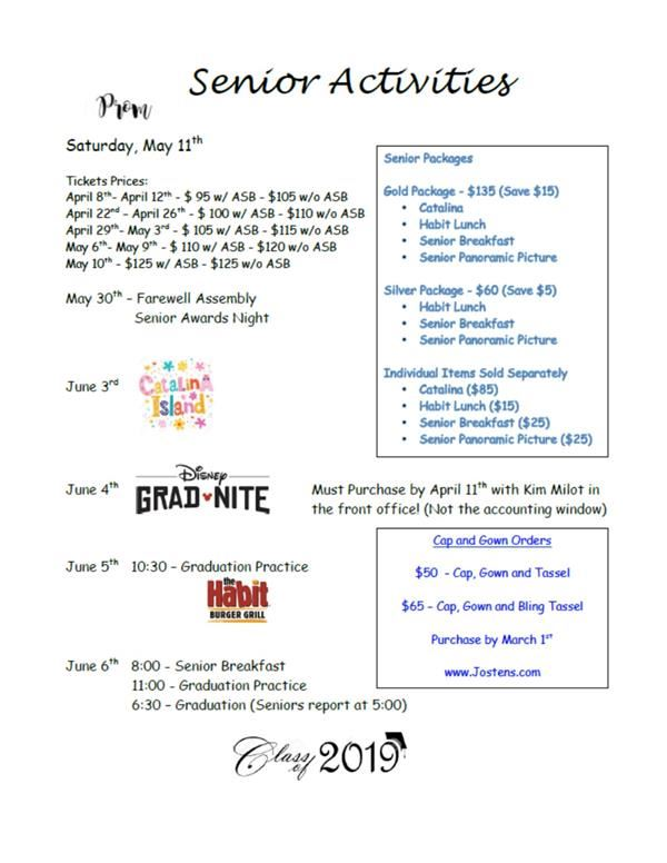 Seniors - End of Year Events