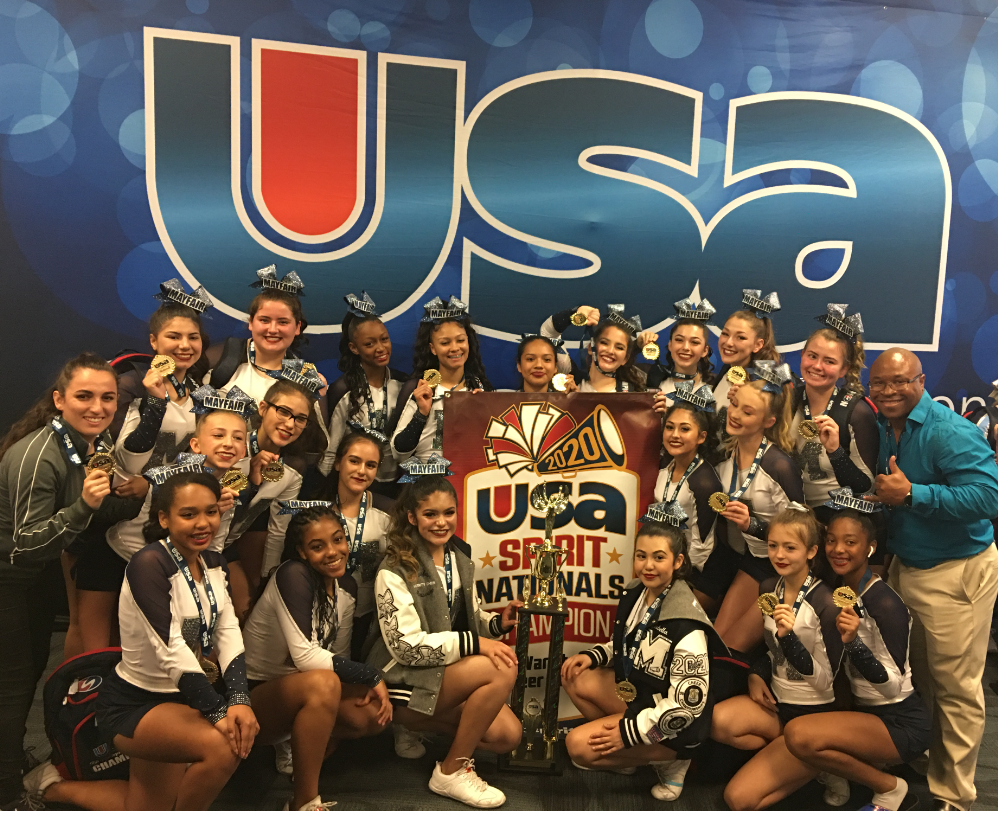 Mayfair High school Competitive Cheer Team at USA Spirit Nationals
