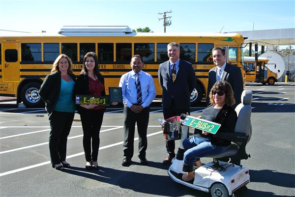 Pictured are representatives from Bellflower USD and A-Z Bus Sales.