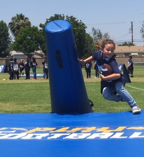 Washington Elementary student participating in Play60 drills.