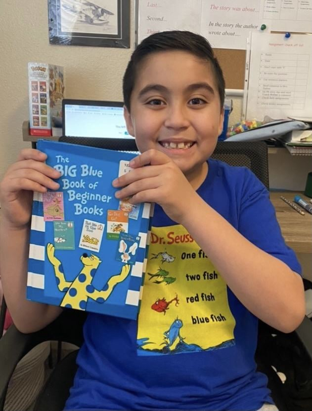 TJ Student during Read Across America.