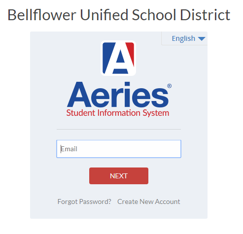 BUSD Aeries Parent Portal Log in.
