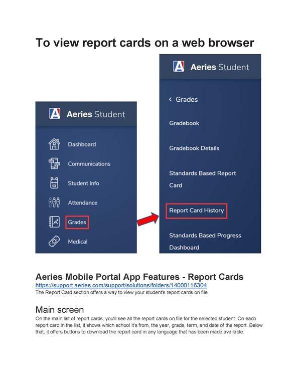 portal report card view