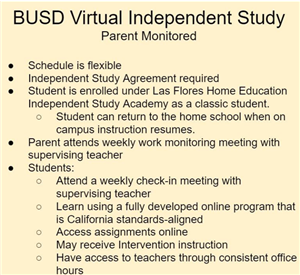 BUSD Independent Study